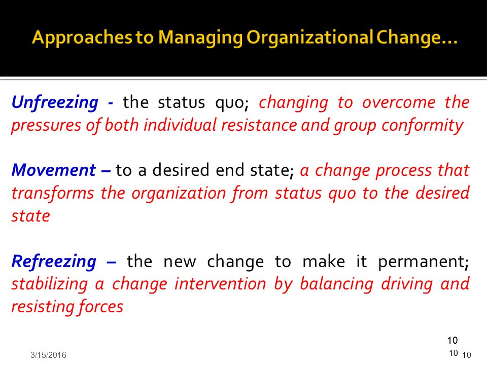 organizational change and resistance intervention Organizational development (od) interventions:  this article shows you the different types of od interventions, and how to choose which type of od intervention your organization, department or team needs  you are facing resistance to change, yet people are not being honest to you there are many hidden agendas.