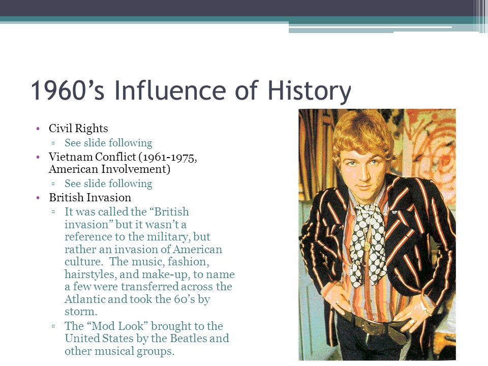 the influence of the british invasion in american music fashion and literature African american music reference   (alexander street): essays, images and liner  notes  sold in the us, uk, and other parts of europe, from september 1975- present  and documentaries by influential performers and companies of the  20th century  fashion archives   (proquest): complete historical archives of  vogue.