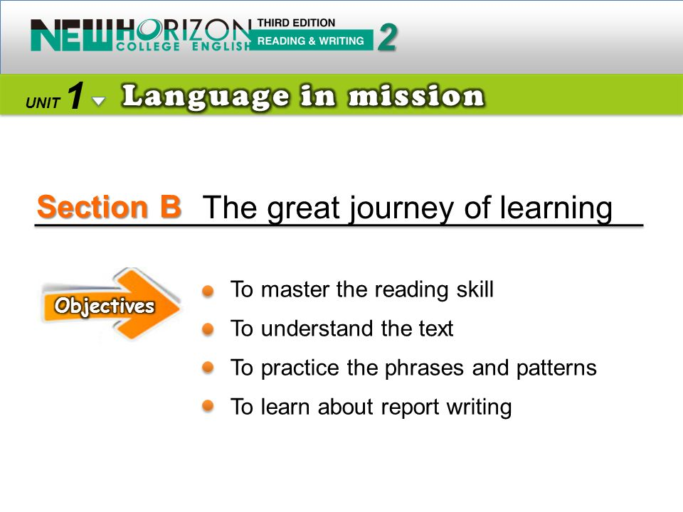 Section B 2 1 The great journey of learning Language in mission