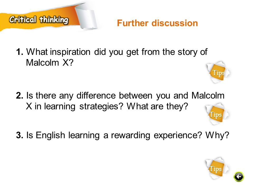 1. What inspiration did you get from the story of Malcolm X