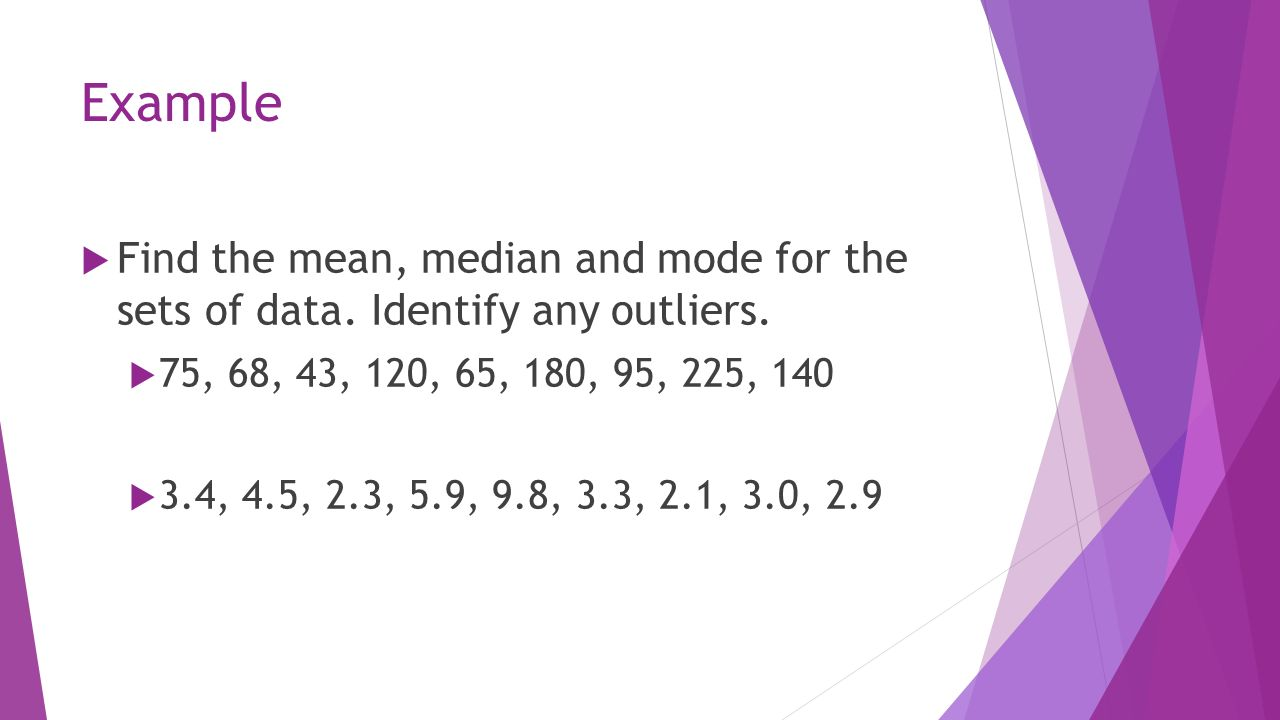 Standard Deviation Calculator Solution For How To Example Find The  Mean, Median And Mode For The Sets Of Data Identify Any 4