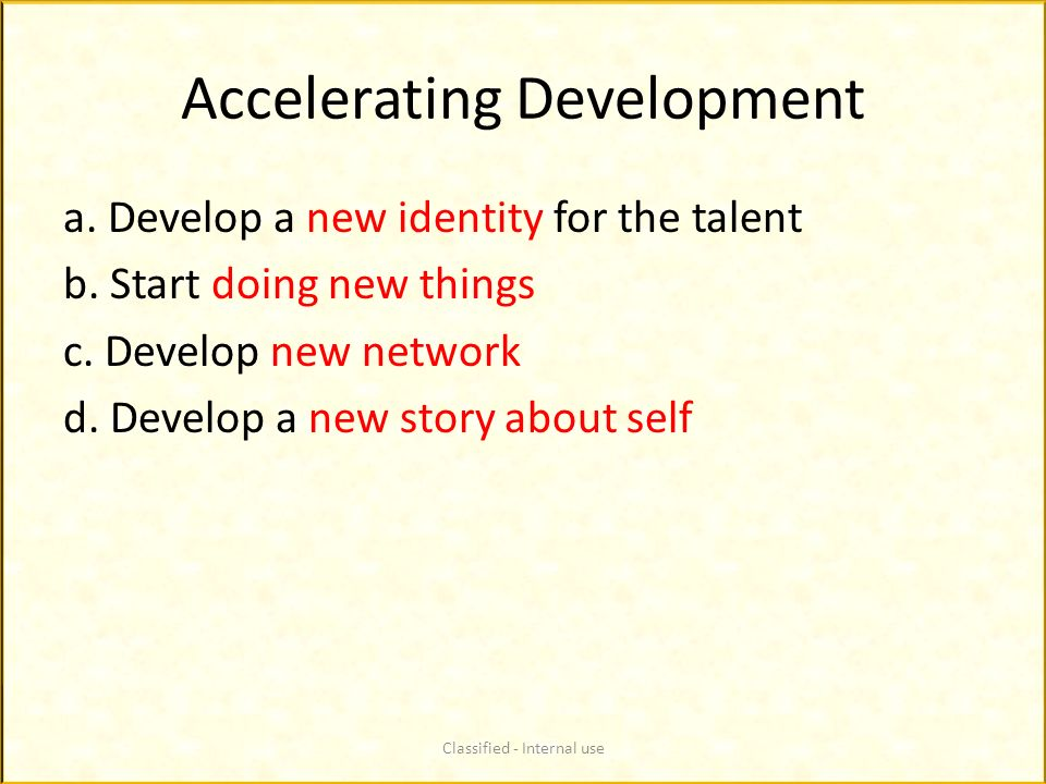 Accelerating Development