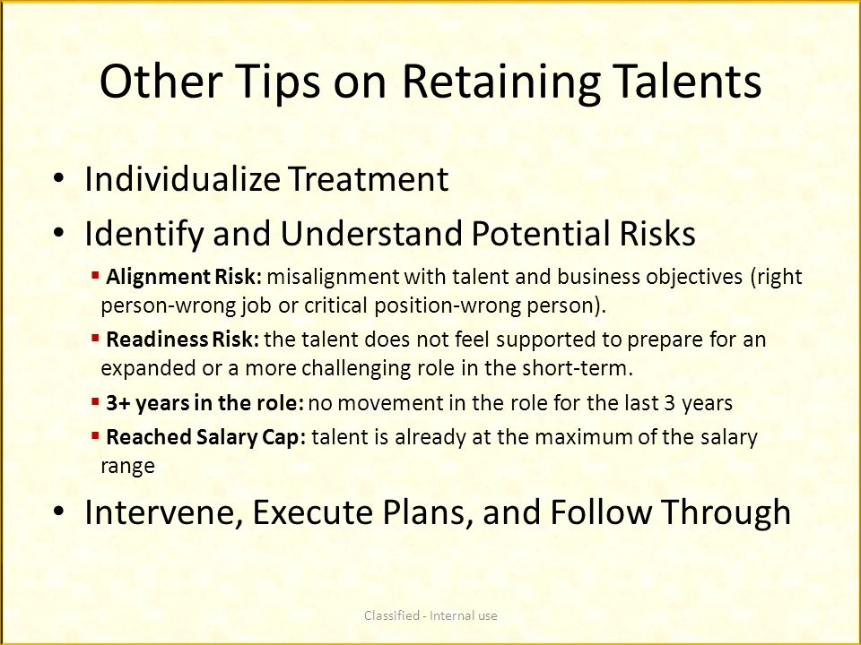 Other Tips on Retaining Talents
