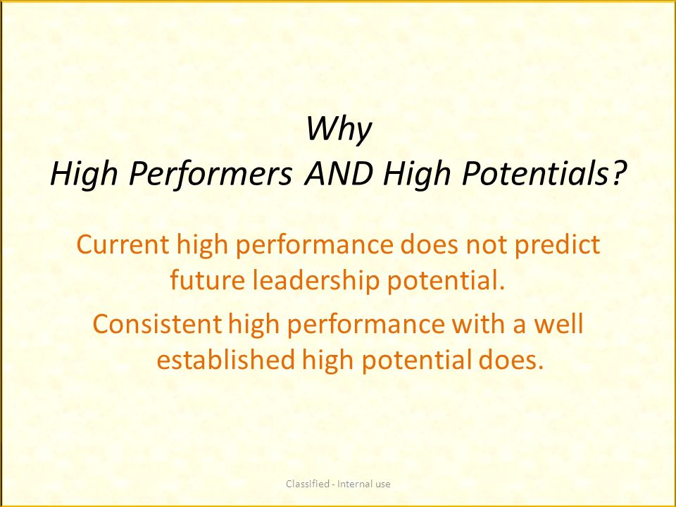 Why High Performers AND High Potentials