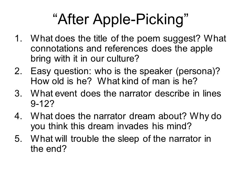 robert frost ppt 8 ldquoafter apple pickingrdquo