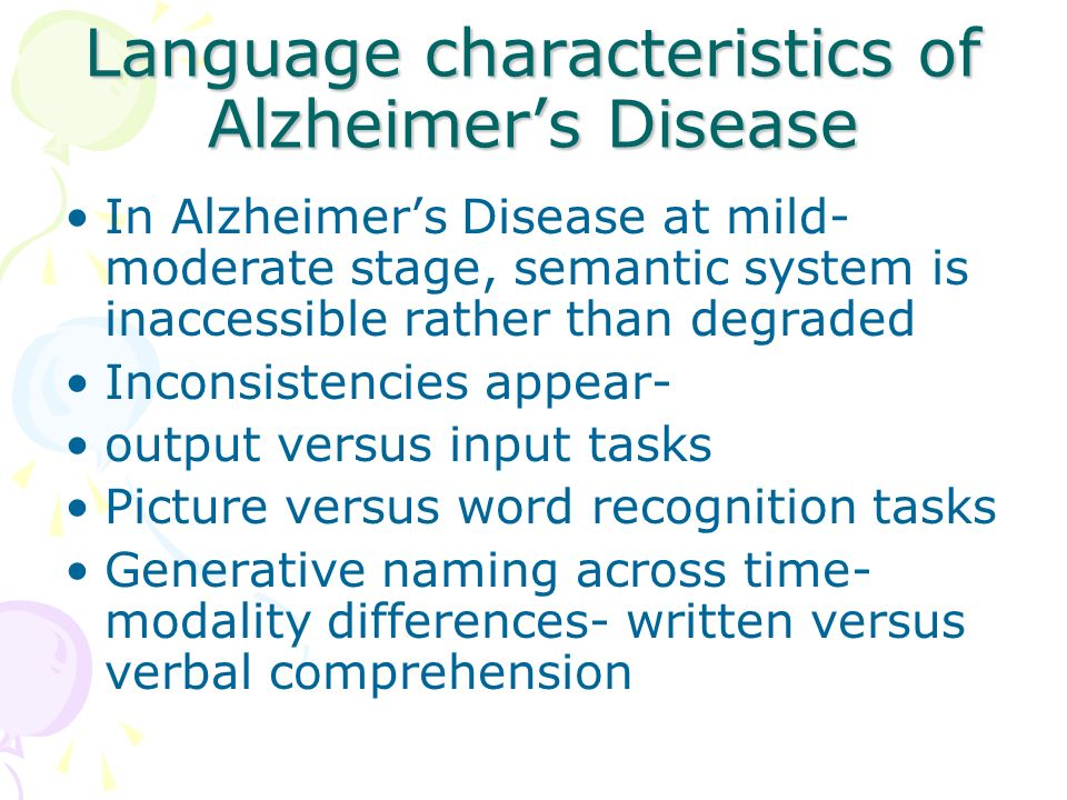 characteristics of the alzheimers disease Alzheimer's disease in people age 65 and older, alzheimer's disease is the most common cause of dementia although the cause of alzheimer's disease isn't known .