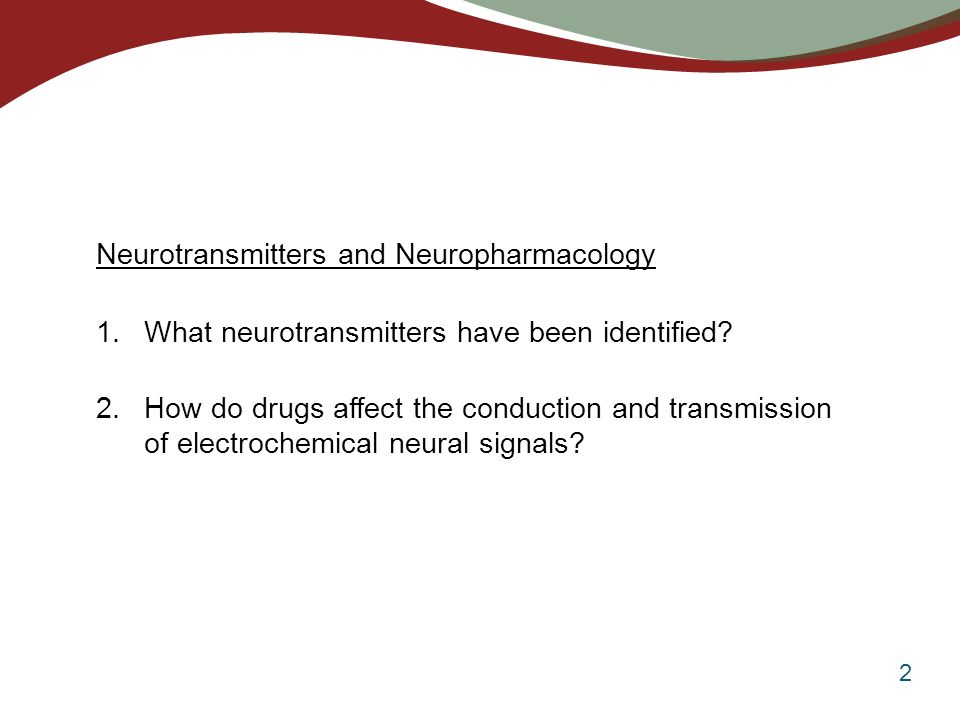 neurotransmitters and neuropharmacology Effect of nicotine and msg on neurons we now move to the cricket cercal preparation to investigate neuropharmacology overview in this lab you will:  an agonist is not a neurotransmitter, it is a chemical that amplifies the effect of other neurotransmitters by binding to synapses.