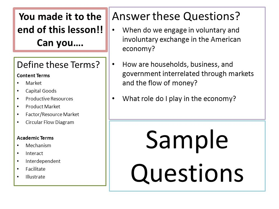 Circular flow of goods and services ppt download you made it to the end of this lesson can you ccuart Choice Image