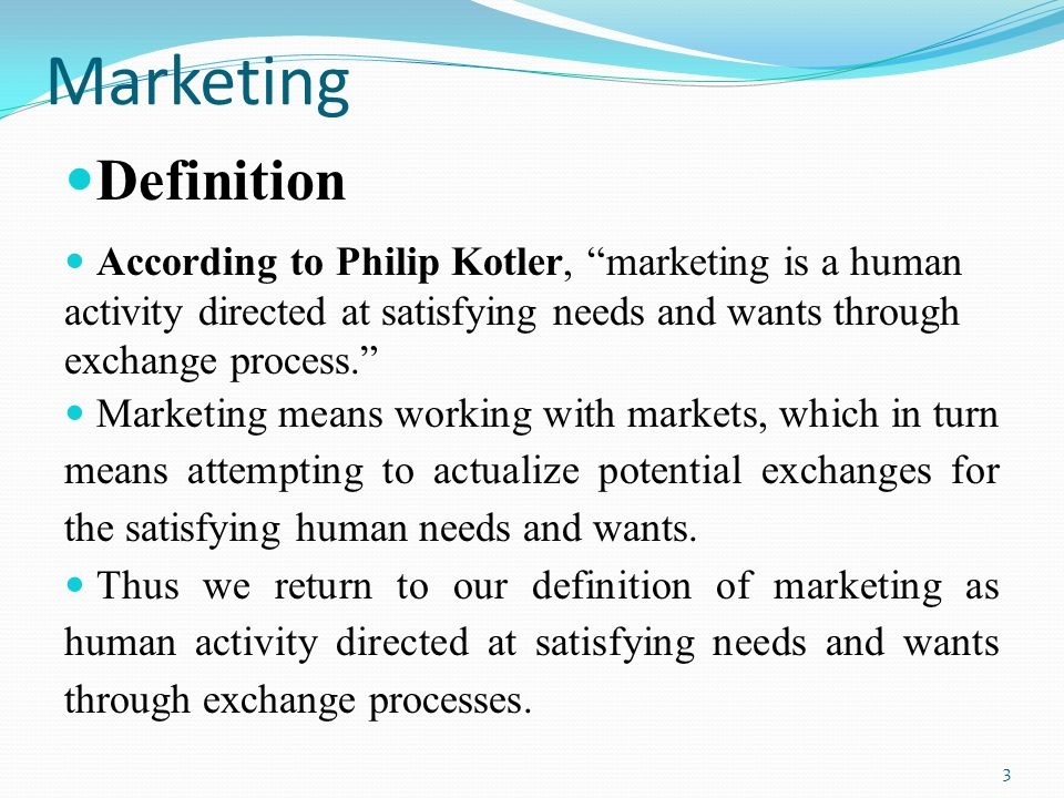 Definition of Market An actual or nominal place where ... Marketing Definition