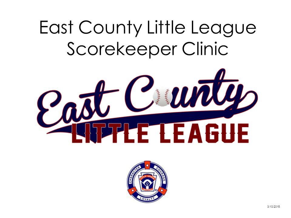 east county little league scorekeeper clinic - ppt video online, Powerpoint templates