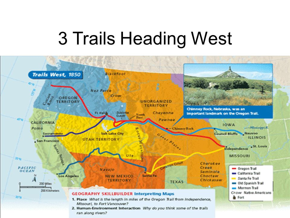 3 Trails Heading West 3 Trails Heading West The Oregon Trail