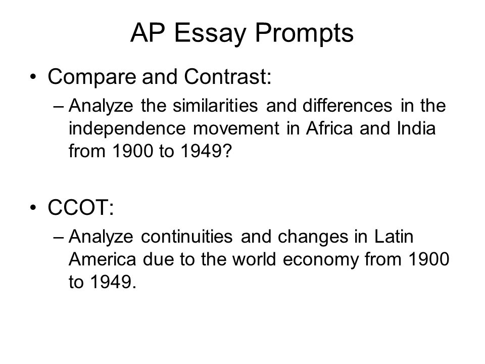ap world history compare and contrast essay latin american revolutions Ap world history 2015-2016 lancaster high school, lancaster, texas goals of the ap world history course ap world history is designed to provide students with the skills and information needed to analyze the experiences of cultures and individuals across time and geographic space.