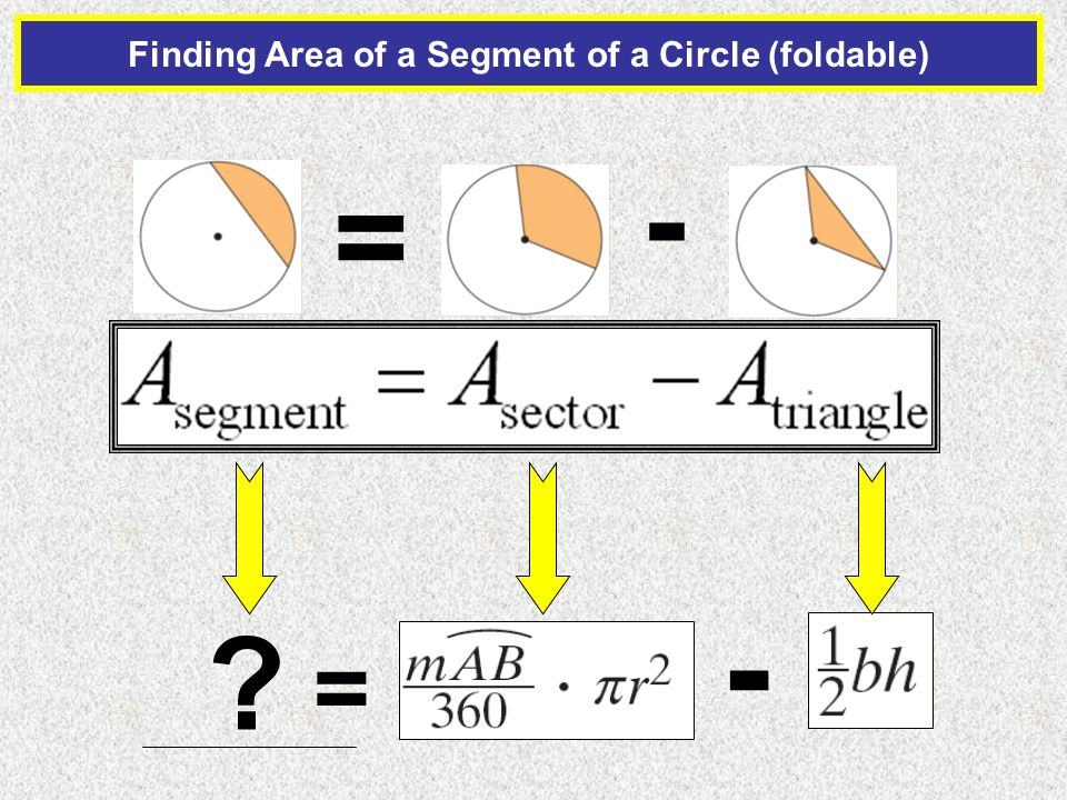 how to find the segment of a circle
