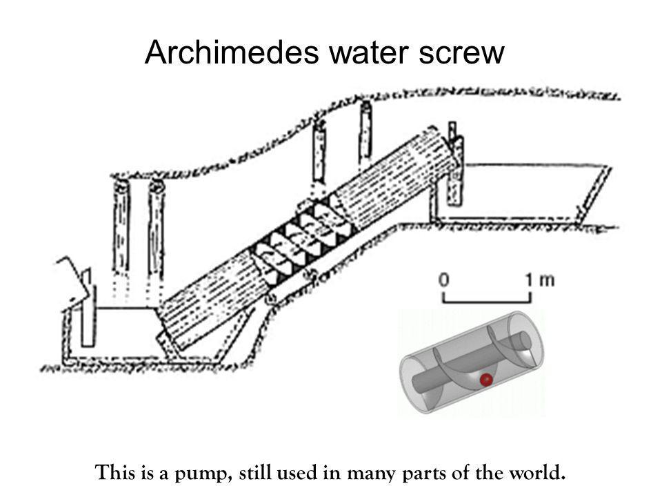 Archimedes water screw