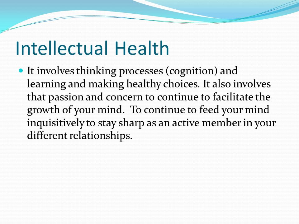 Intellectual Health