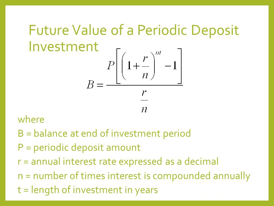 Future Value Of Investments Ppt Download