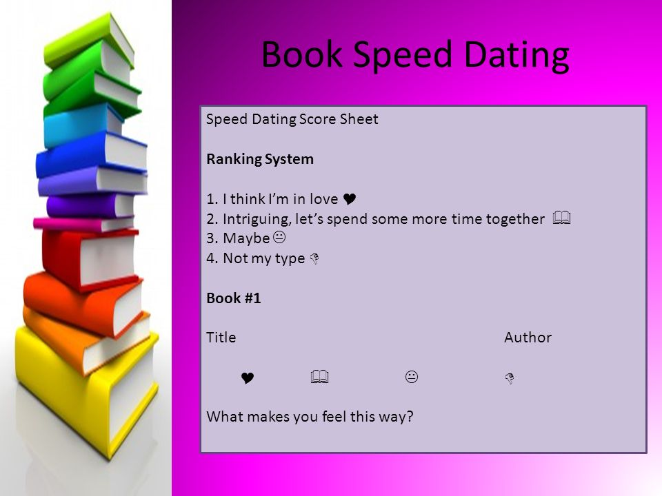 speed dating sign up sheet