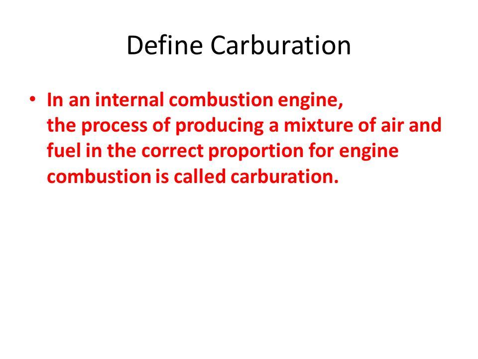 Define Carburation
