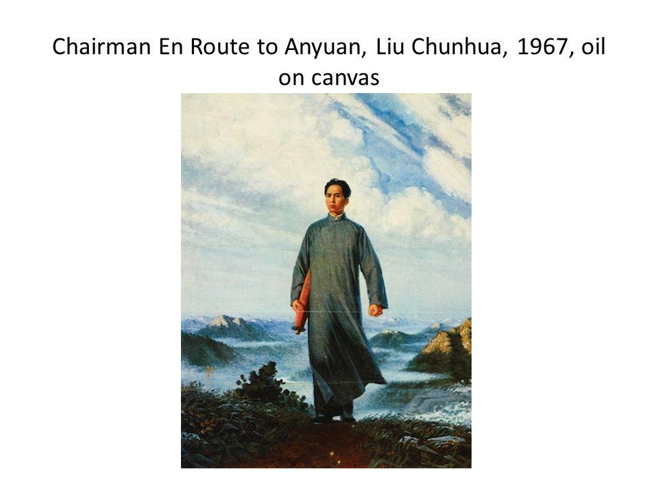 Chairman En Route to Anyuan, Liu Chunhua, 1967, oil on canvas