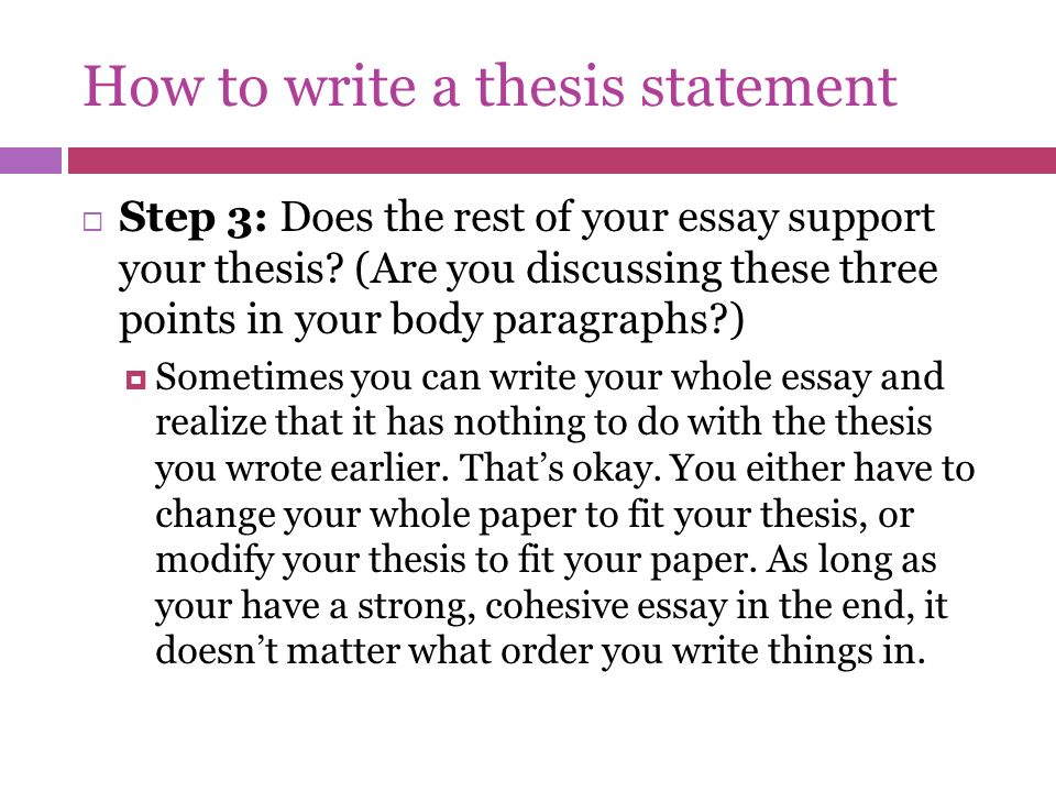 Thesis 101: Why Write One?