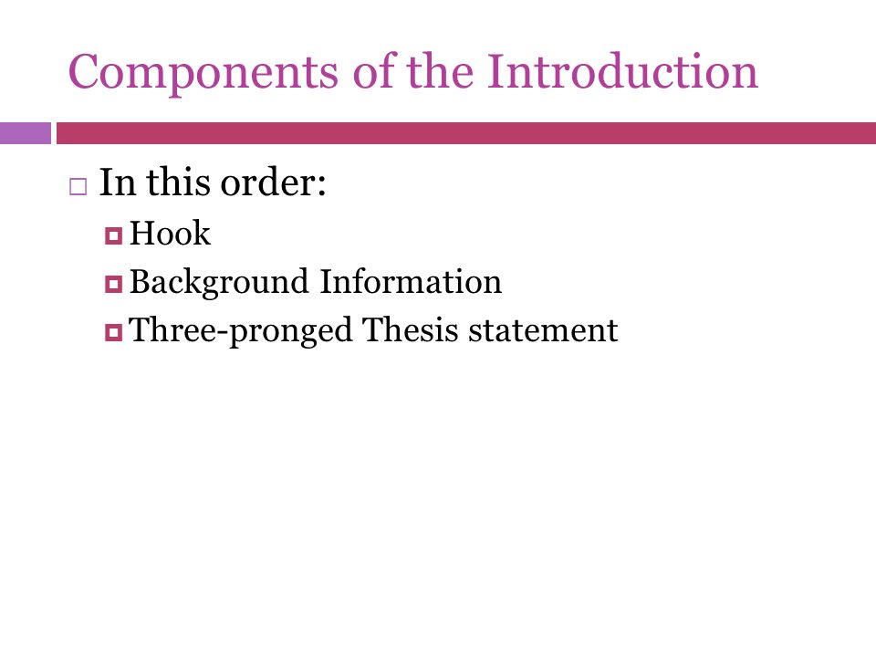 three components of thesis statement