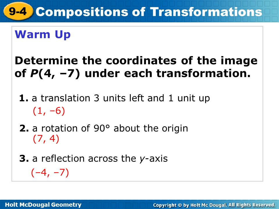 9 4 compositions of transformations worksheet