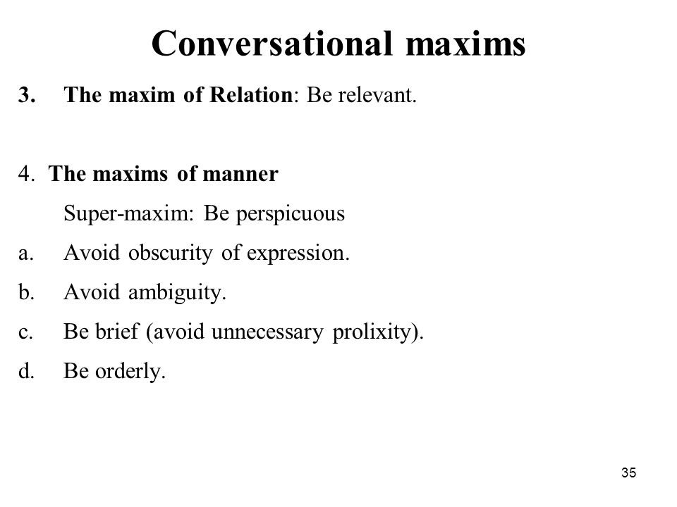 conversational maxims Ks5 multimedia resource containing scenes from 'the big bang theory' where the characters flout grice's 4 maxims of quality, quantity, manner and relation.