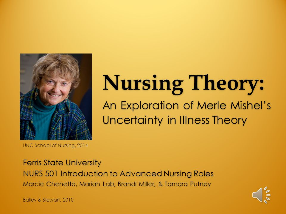 uncertainty in illness theory analysis Merle mishel's uncertainty in illness theory overview the following nurs 324 powerpoint presentation will explore merle mishel's nursing theory.