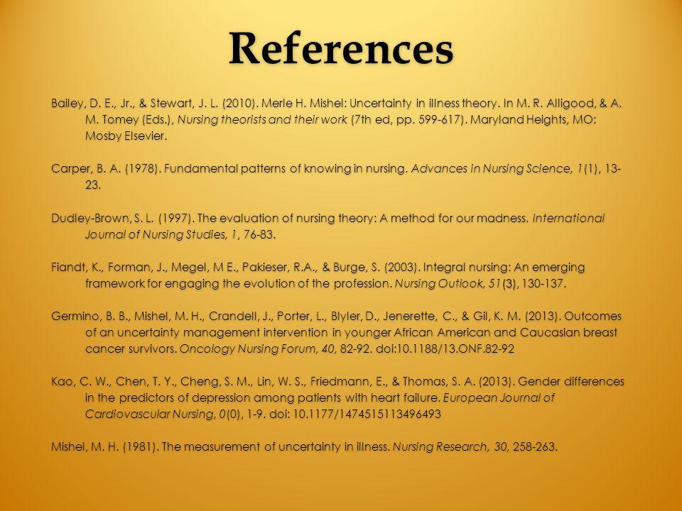 nursing theory in oncology nursing