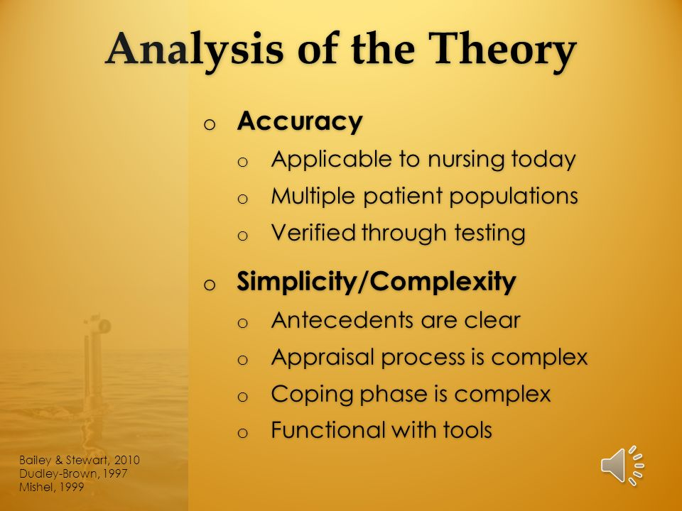 analysis of middle range nursing theory Mid range theory - authorstream presentation  ultimately allows for the development in nursing interventions that facilitate a positive patient adaptation to the.