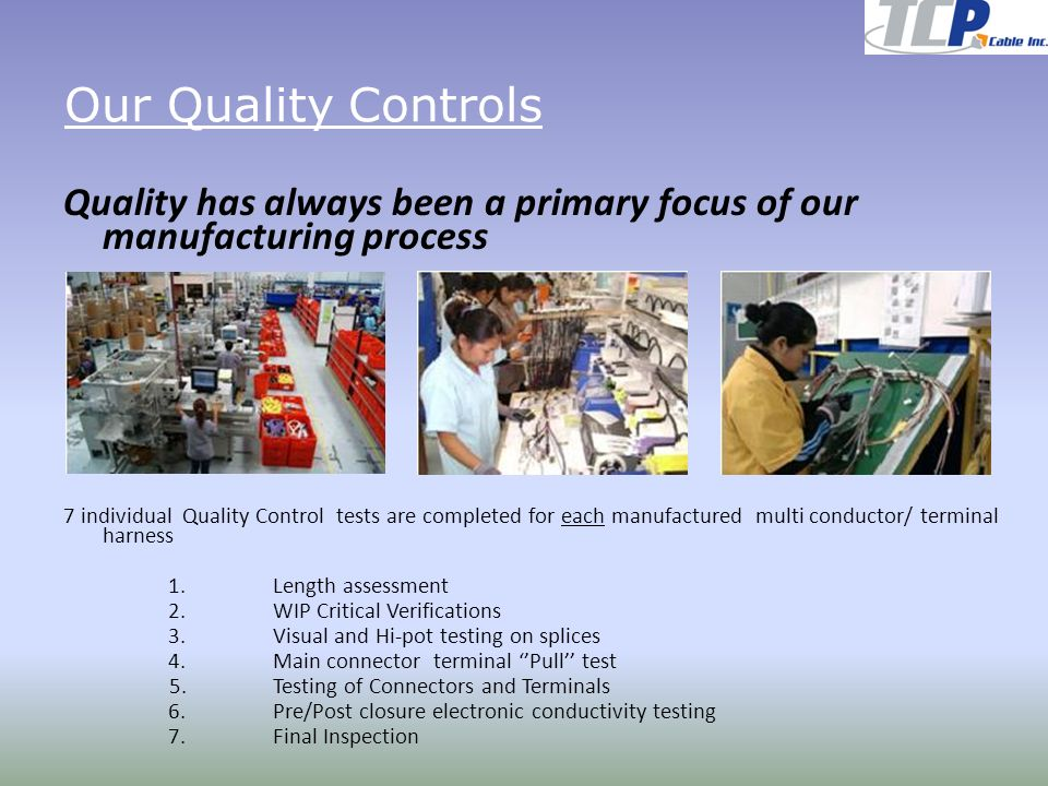 Our+Quality+Controls+Quality+has+always+been+a+primary+focus+of+our+manufacturing+process. wire harness manufacturing process flow wire harness manufacturing  at mifinder.co