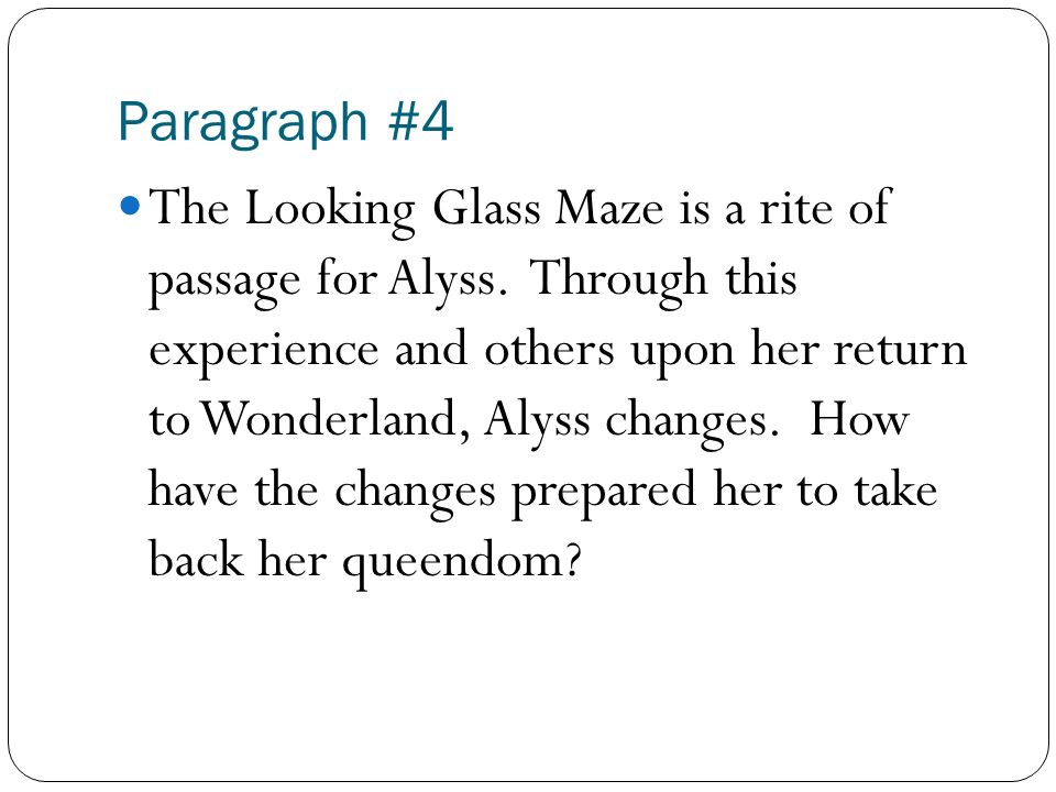 the looking glass wars essay ppt 6 paragraph