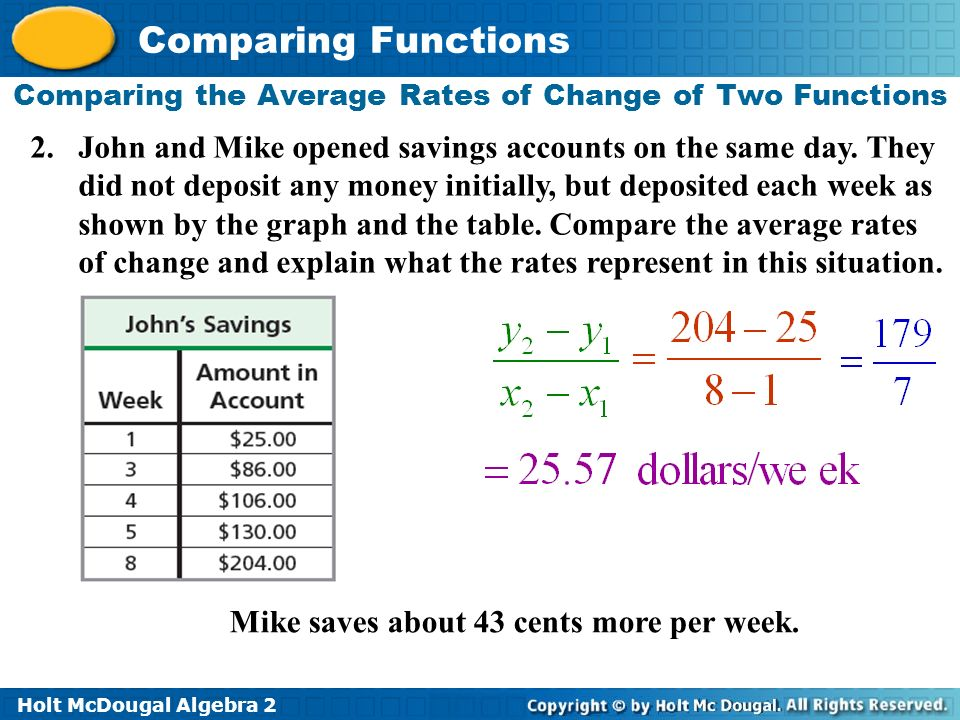 How do we compare properties of two functions ppt download – Comparing Functions Worksheet