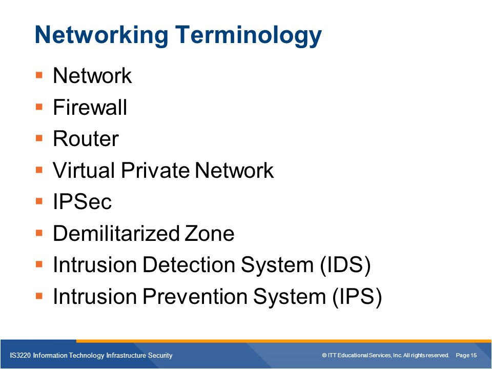 Is3220 Information Technology Infrastructure Security