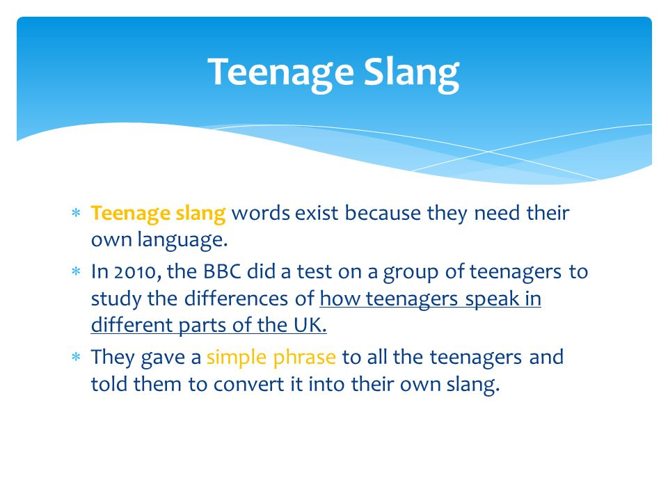The analysis of slang language among