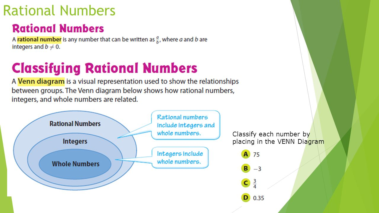 rational number Watch video  given a bunch of numbers, learn how to tell which are rational and which are irrational.