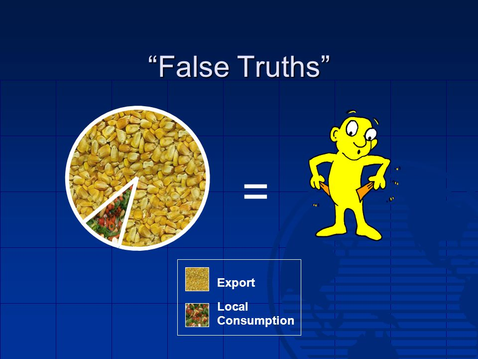 False Truths = Export Local Consumption