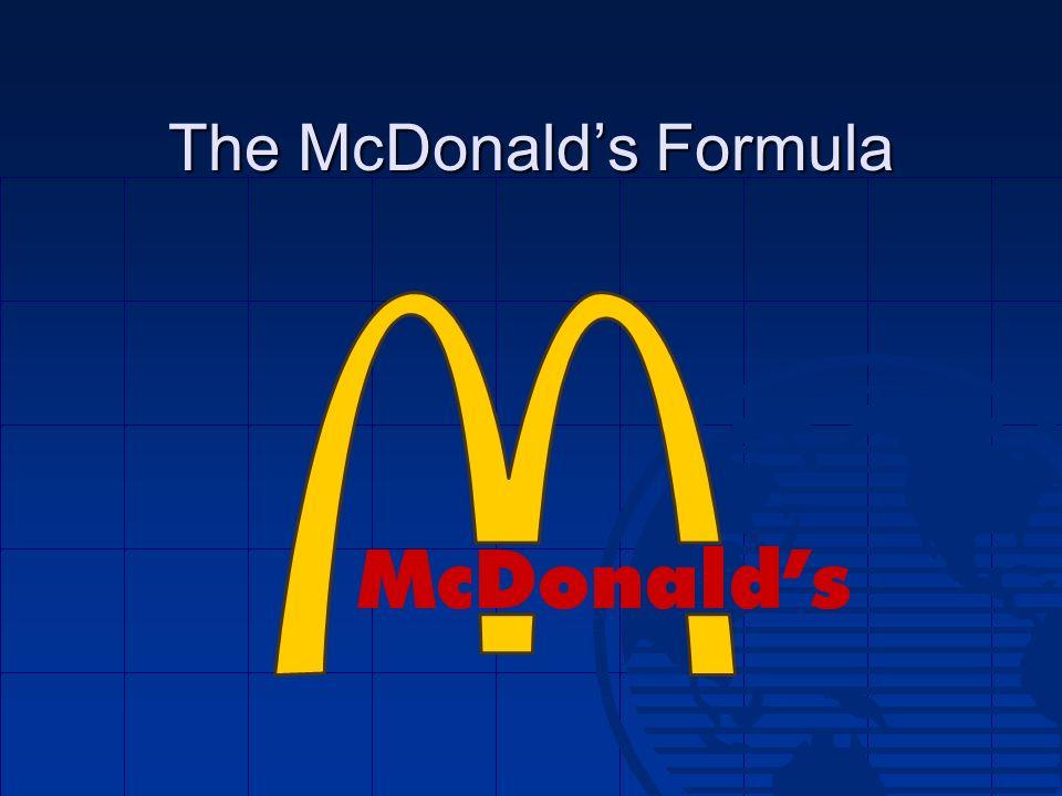The McDonald's Formula