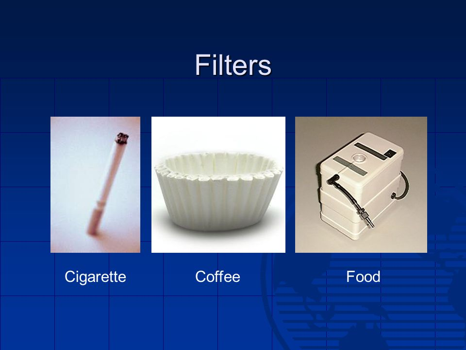 Filters Cigarette Coffee Food