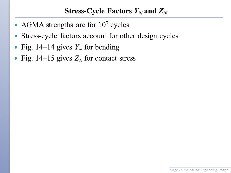 Stress-Cycle Factors YN and ZN