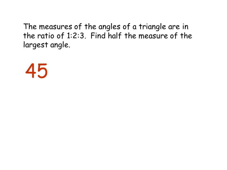 how to find the ratio of triangle