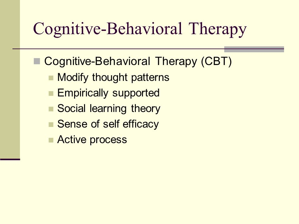 the effects of cognitive behavioral therapy Plastic changes in the brain have been difficult to study in humans, but there has been more success in animal studies  nearly 20 studies on brain changes after psychotherapy for depression,  straube t, glauer m, dilger s, et al effects of cognitive-behavioral therapy on brain activation in specific phobia neuroimage 200629:125-135 14.