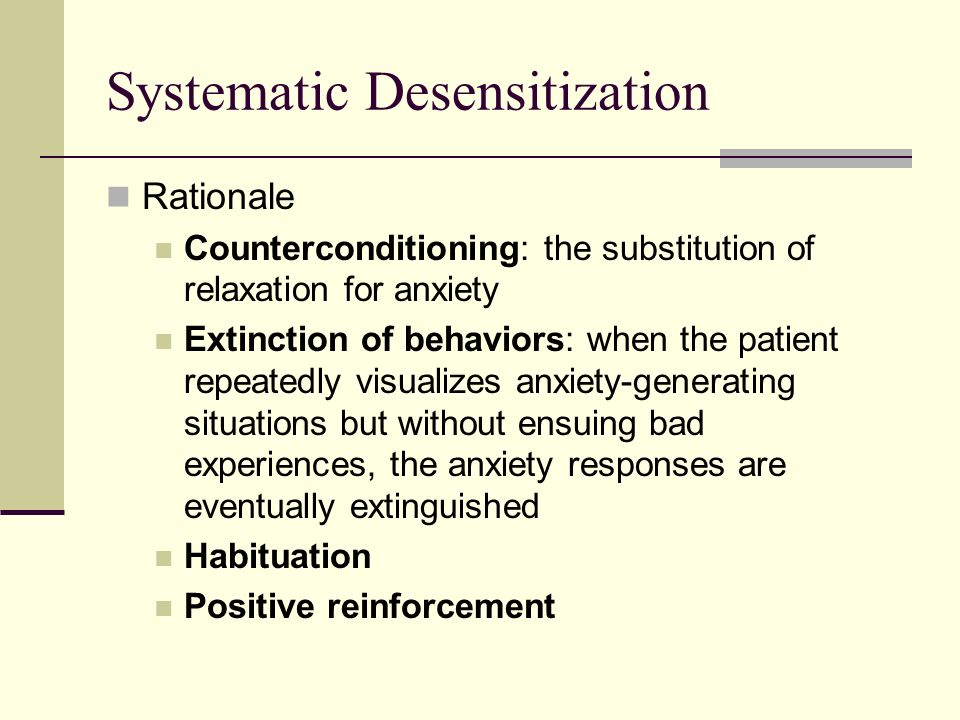 describe and evaluate systematic desensitisation in phobia Who developed systematic desensitisation  what can be put in place to enable sd to work with social phobias  describe and evaluate cook and mineka (1989.