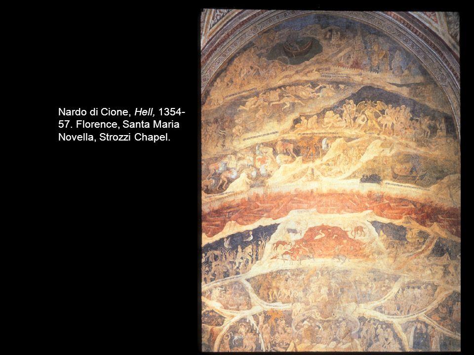 Nardo di Cione, Hell, 1354-57. Florence, Santa Maria Novella, Strozzi Chapel.