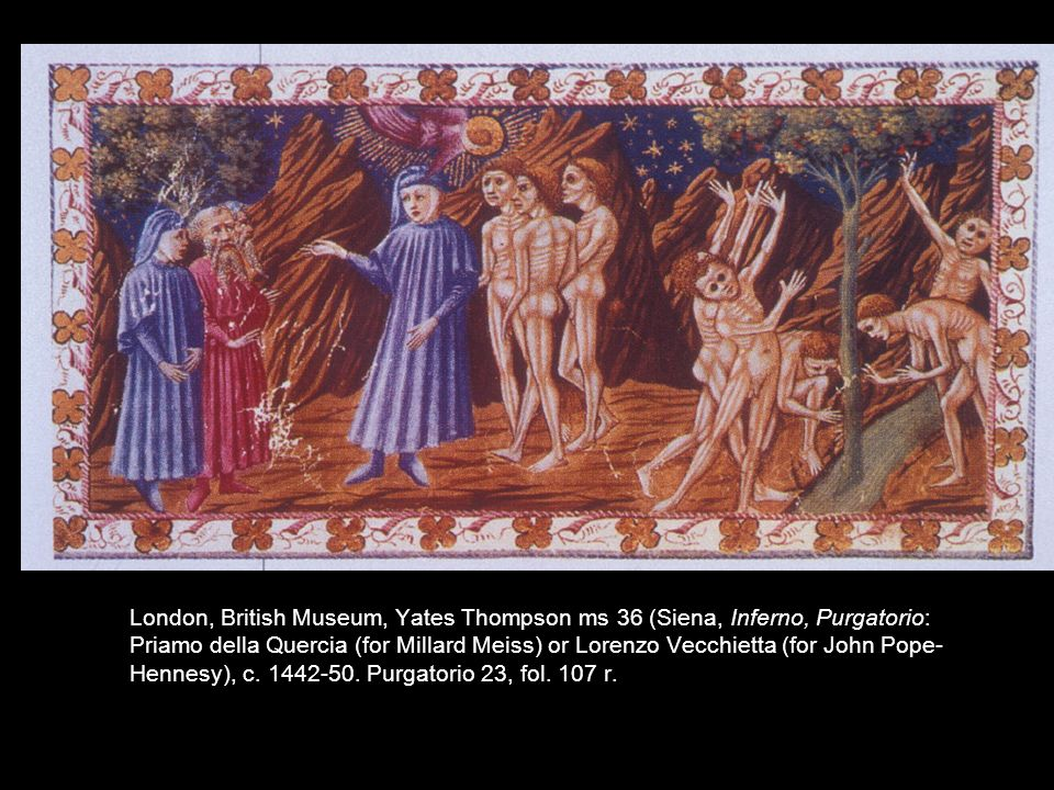 2005.6331.Divina-Commedia,-.jpg. Purgatory 23, Yates Thompson 36, f 107 r (second vol. Purgatory)