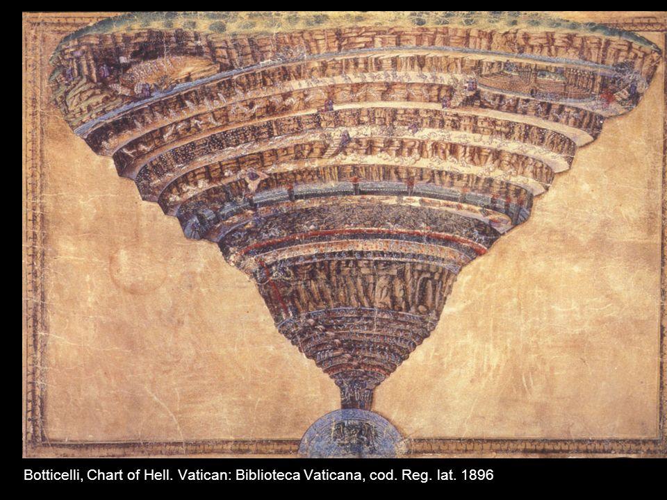 Botticelli, Chart of Hell. Vatican: Biblioteca Vaticana, cod. Reg. lat