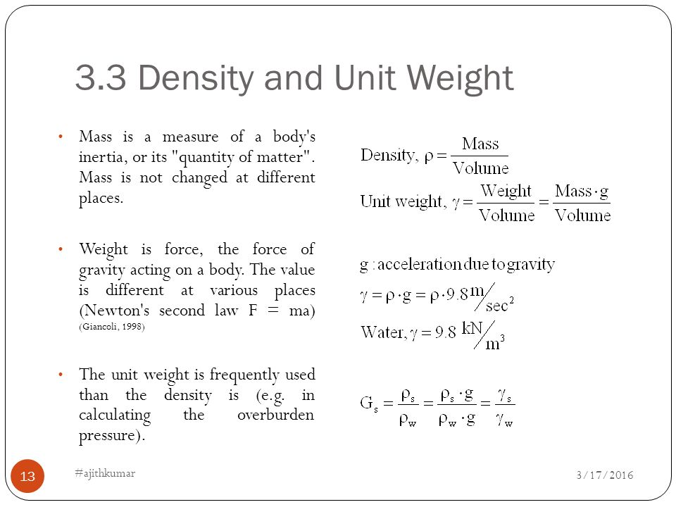 Ce 6405 soil mechanics ajith kumar ajithkumar 4 27 ppt for Soil unit weight