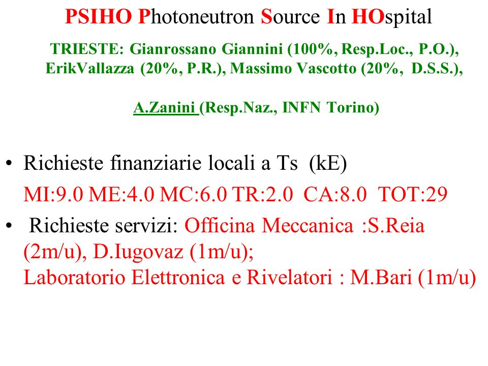 PSIHO Photoneutron Source In HOspital