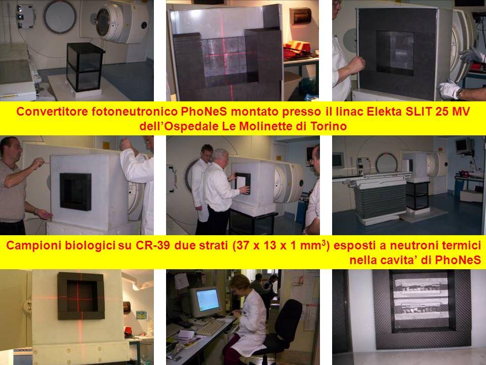 Convertitore fotoneutronico PhoNeS montato presso il linac Elekta SLIT 25 MV dell'Ospedale Le Molinette di Torino