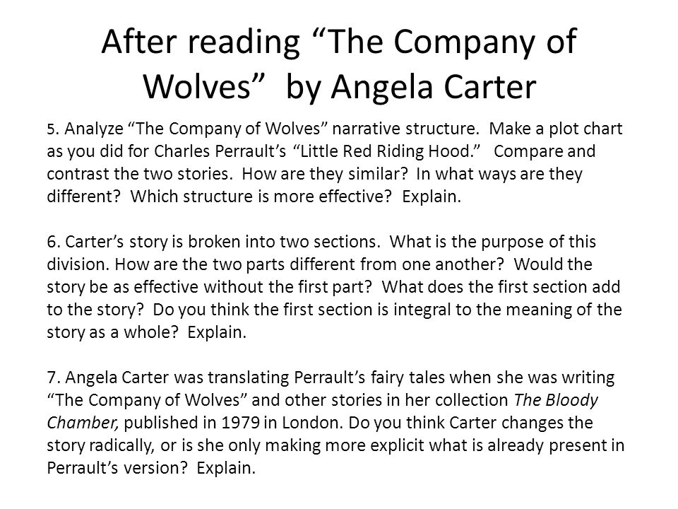 """The Company of Wolves"" by Angela Carter Essay Sample"